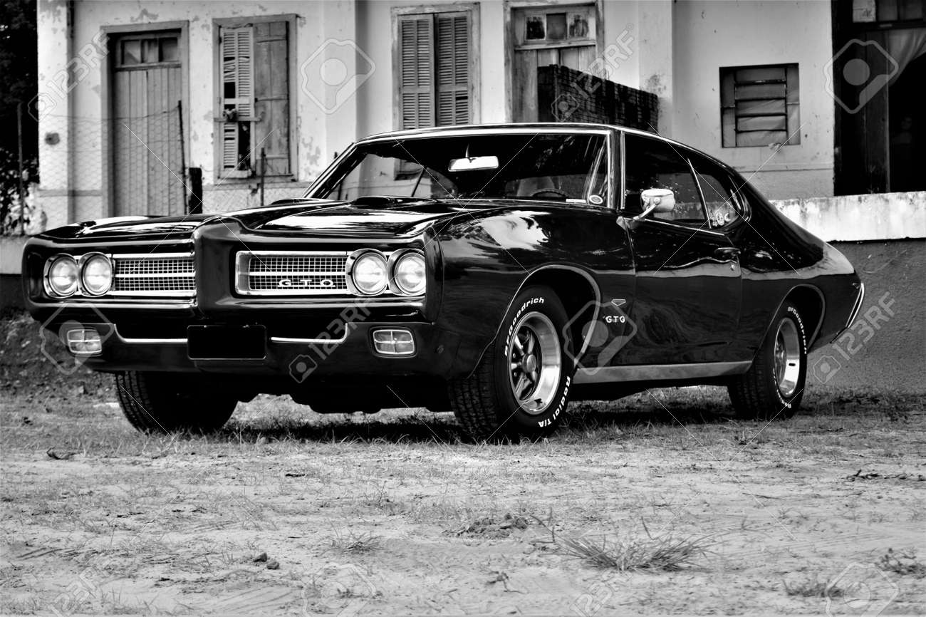 Classical Musclecar Pontiac GTO The Judge 1969 Stock Photo, Picture ...