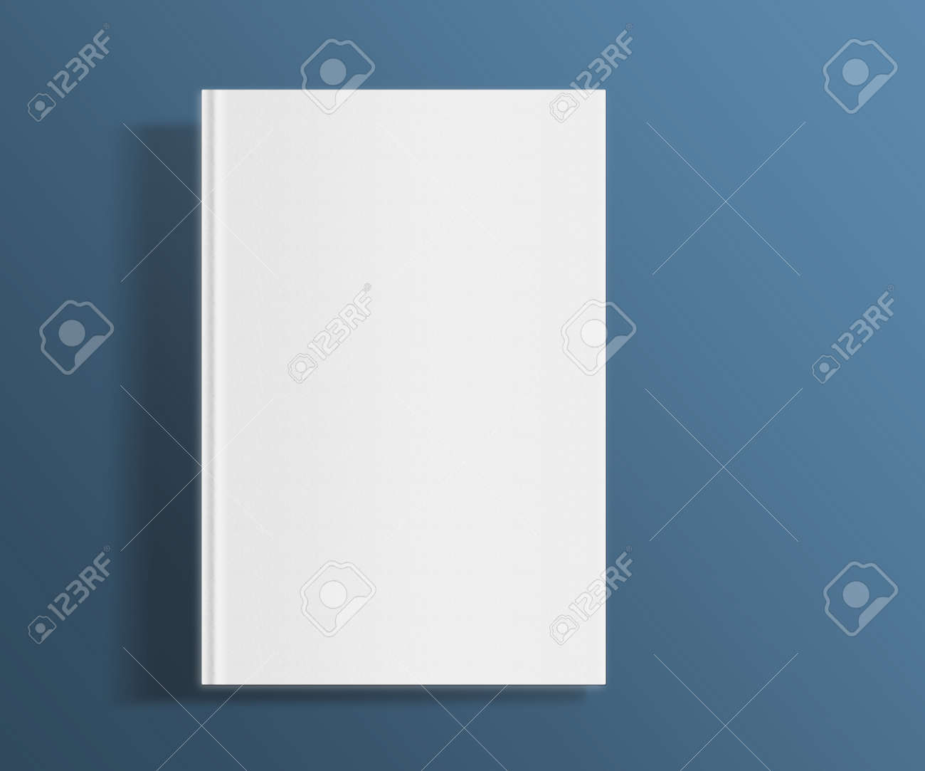 Blank Book Cover Template On Trendy Flat Background With Shadows ...