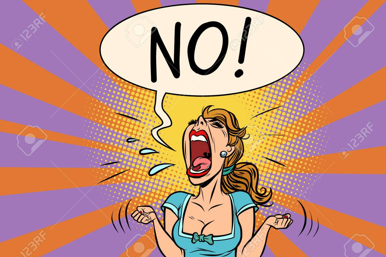 No furious screaming woman - 89435814
