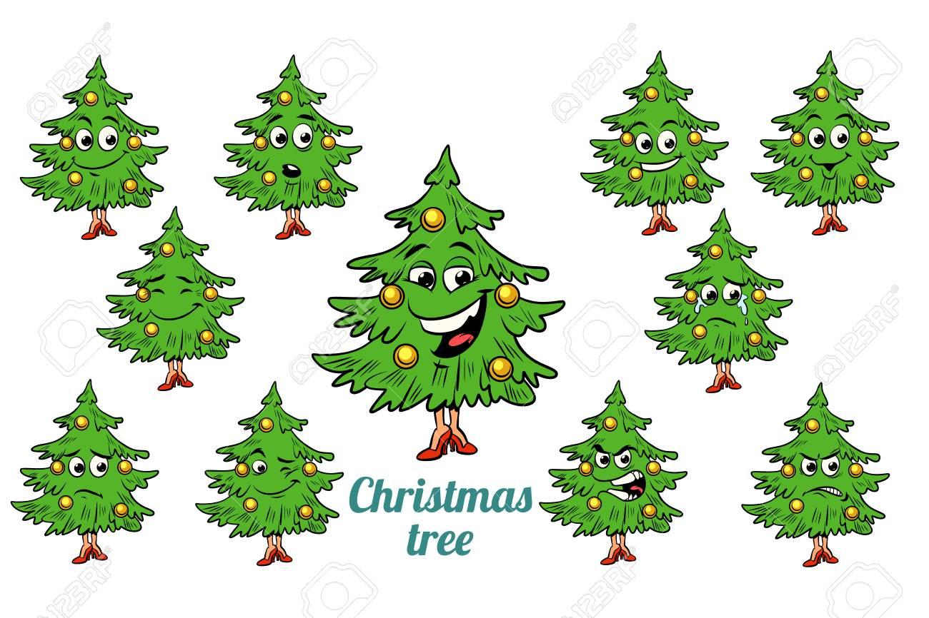 Weihnachtsbaum Comic.Stock Photo