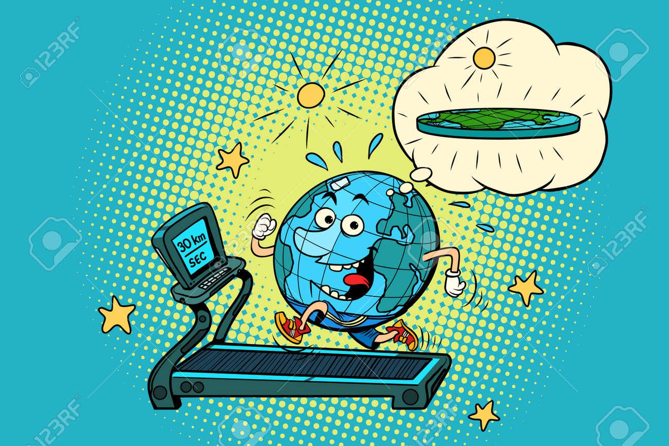 Fun fat earth on the treadmill dream to lose weight sport fitness fun fat earth on the treadmill dream to lose weight sport fitness and healthy ccuart Gallery