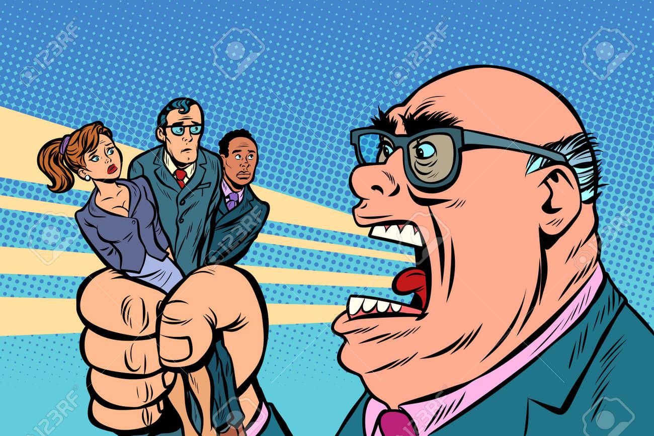 Boss yells at subordinates - 101695649