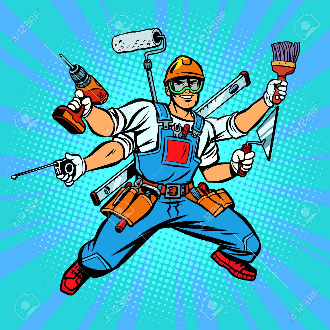 Many hand Builder repairman worker - 104790708
