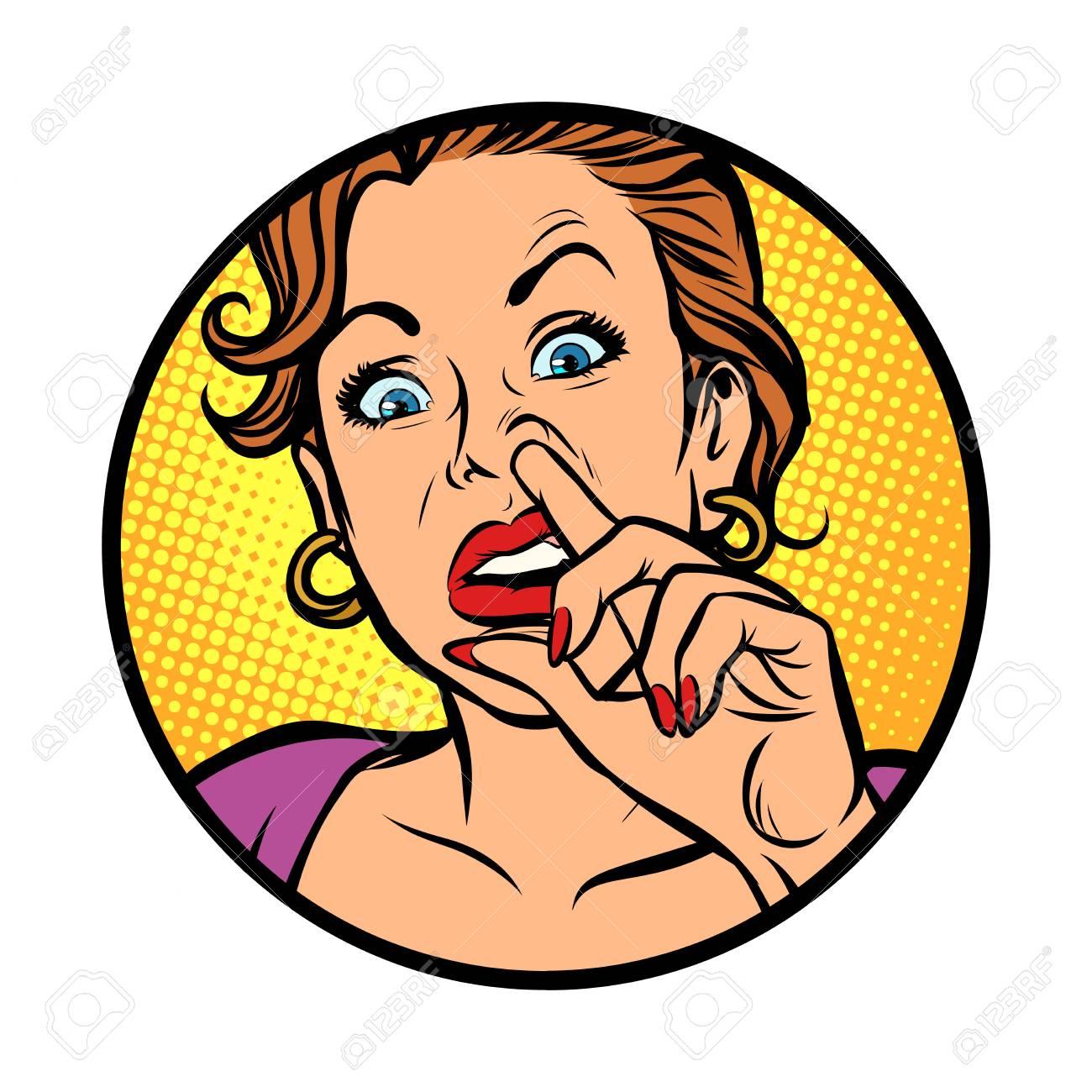Symbol Icon Woman Picking Nose Comic Cartoon Pop Art Retro Royalty Free Cliparts Vectors And Stock Illustration Image 110717102