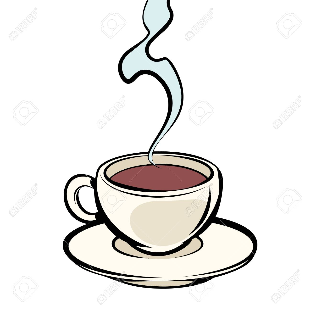 Cup Of Hot Coffee Comic Cartoon Pop Art Vector Retro Vintage Royalty Free Cliparts Vectors And Stock Illustration Image 124158610