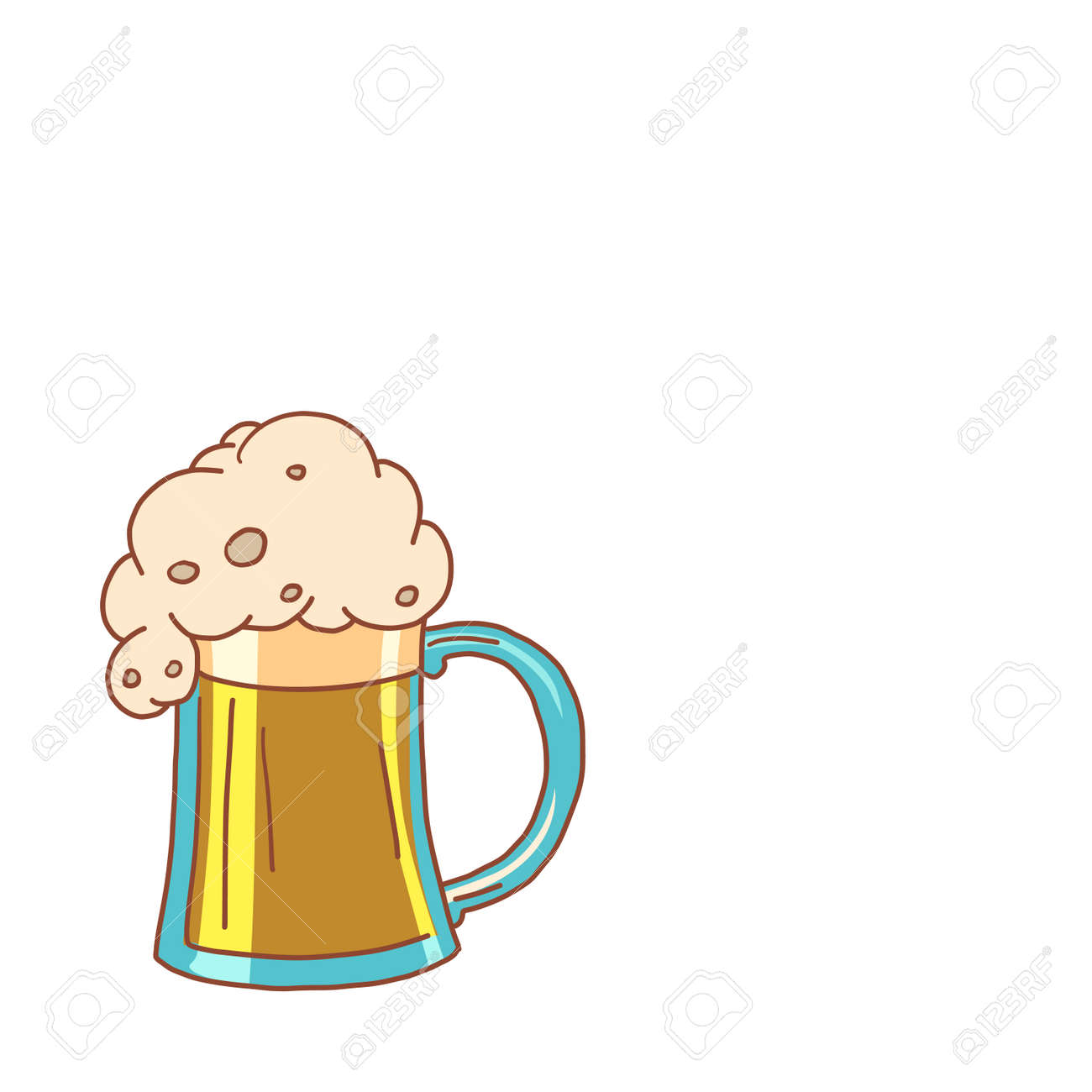 Foam Beer In A Mug Comic Cartoon Pore Art Retro Vector Kitsch Royalty Free Cliparts Vectors And Stock Illustration Image 141780515