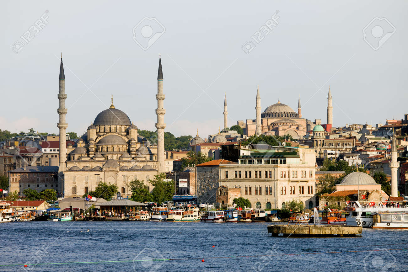 City Of Istanbul, View From The Golden Horn On The Left Side ...