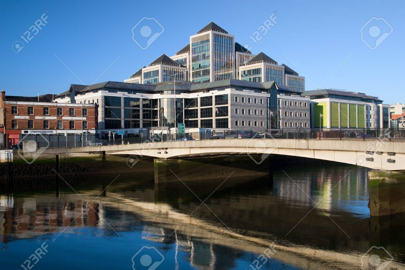 Modern Architecture Dublin modern architecture in dublin downtownthe river liffey in