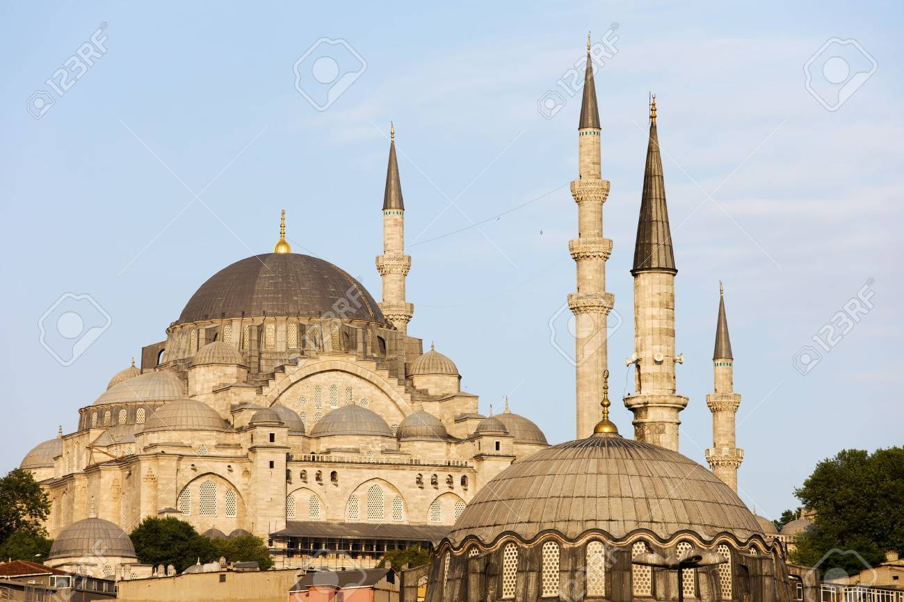 Suleymaniye Mosque historic architecture (Ottoman imperial mosque) in Istanbul, Turkey Stock Photo - 12062234