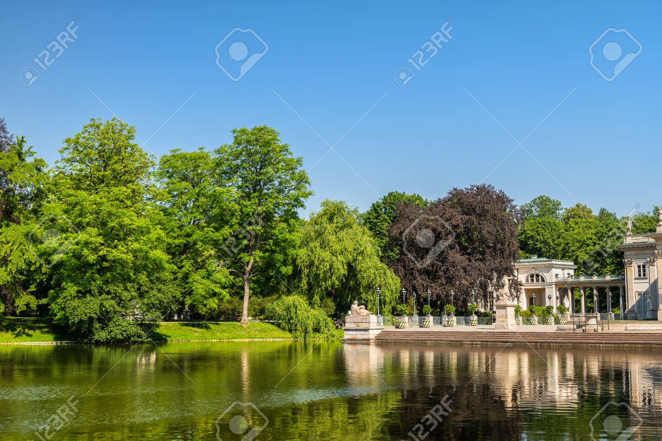Royal Lazienki Park in city of Warsaw in Poland. - 125460274