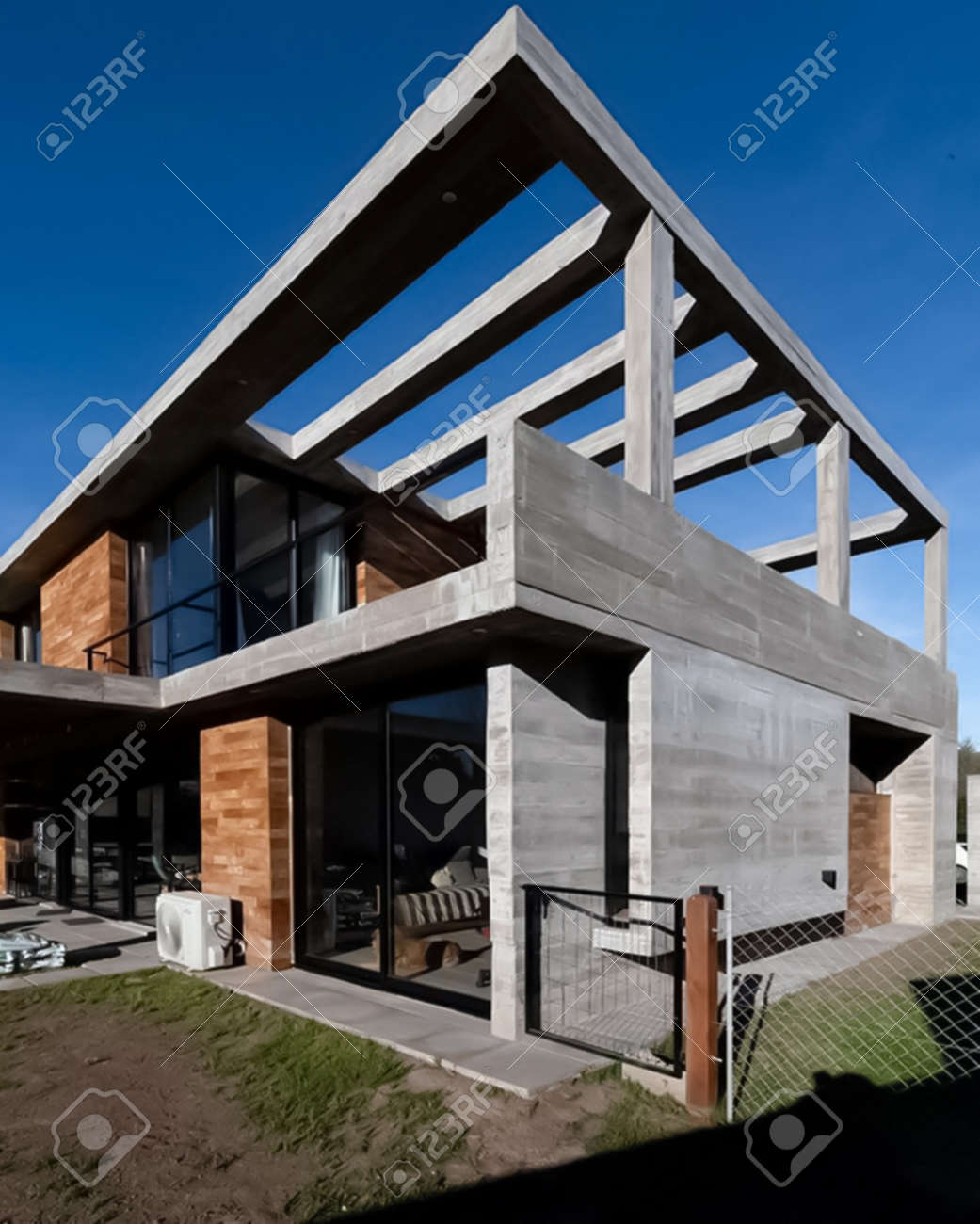 Wooden Modern Architect Design Photo Have Shallow Depth Of Field Selective Focus Blur And Architectural Design Photo Blue Print For Architectural Engineer Contains Luxurious Building Apartment Modern Multistorey Architect Photo Green Picture