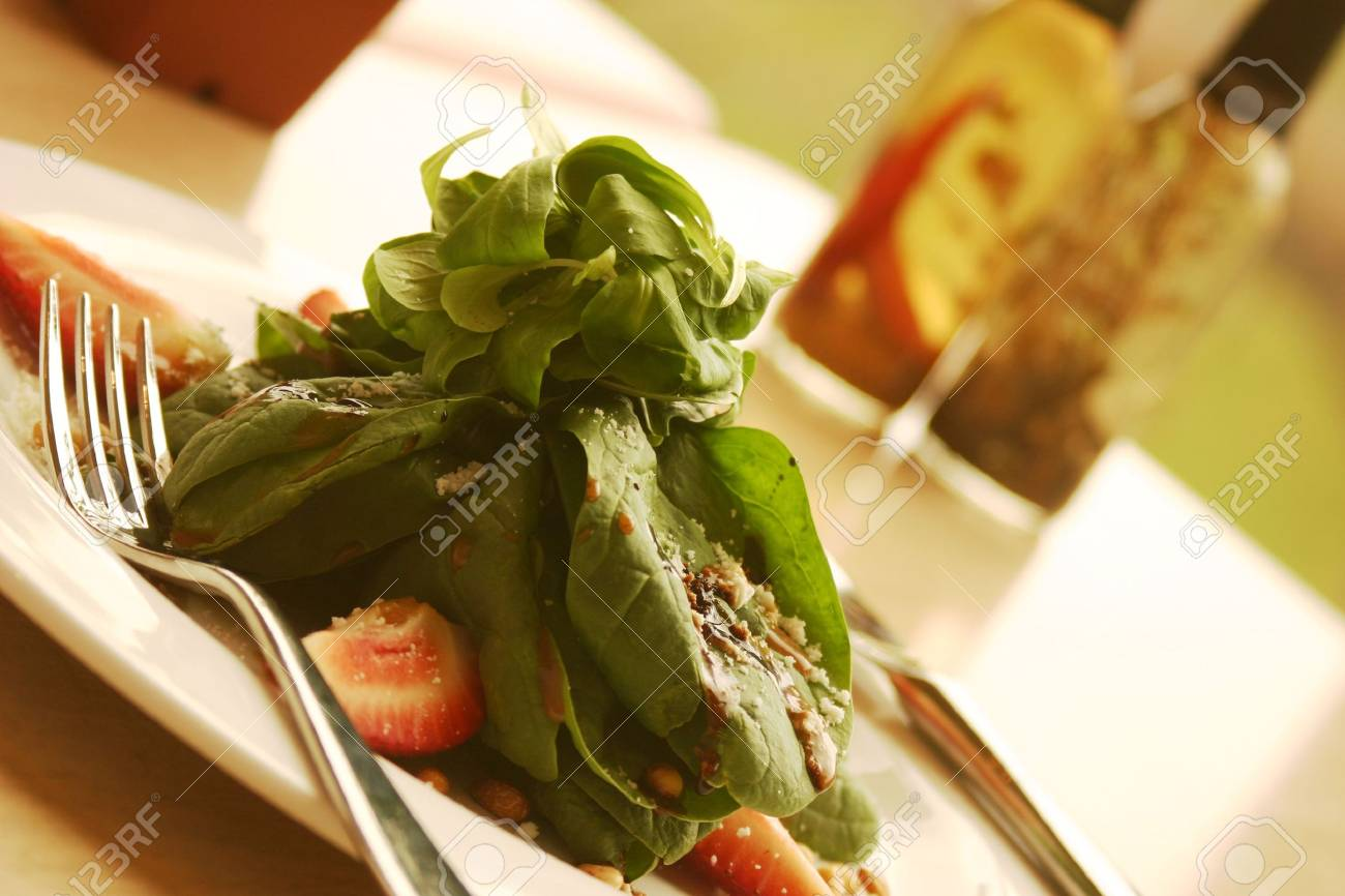 Spinach salad. Shallow DOF. Stock Photo - 220541