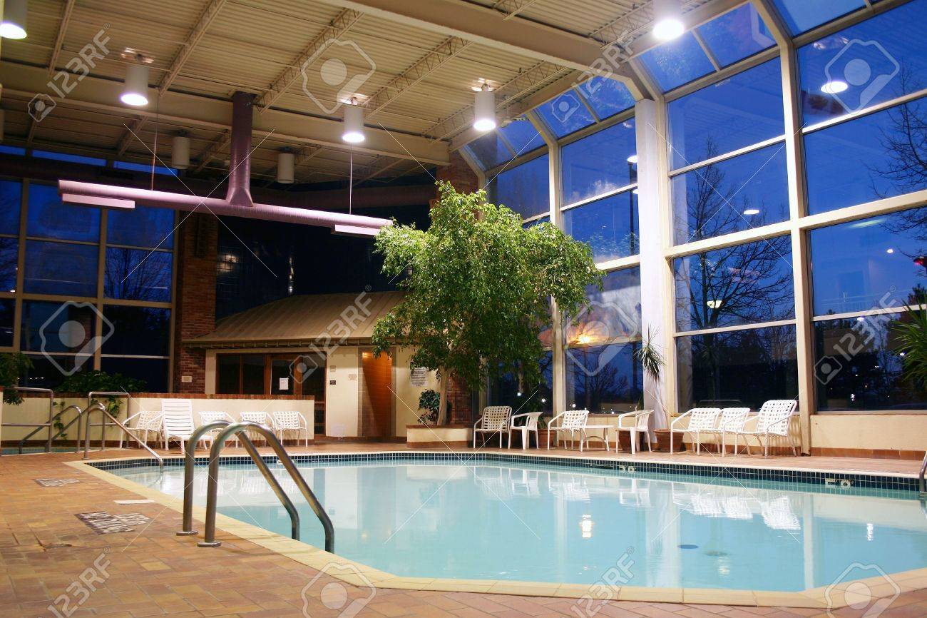 Elegant Shot Of An Indoor Heated Swimming Pool Stock Photo   223640