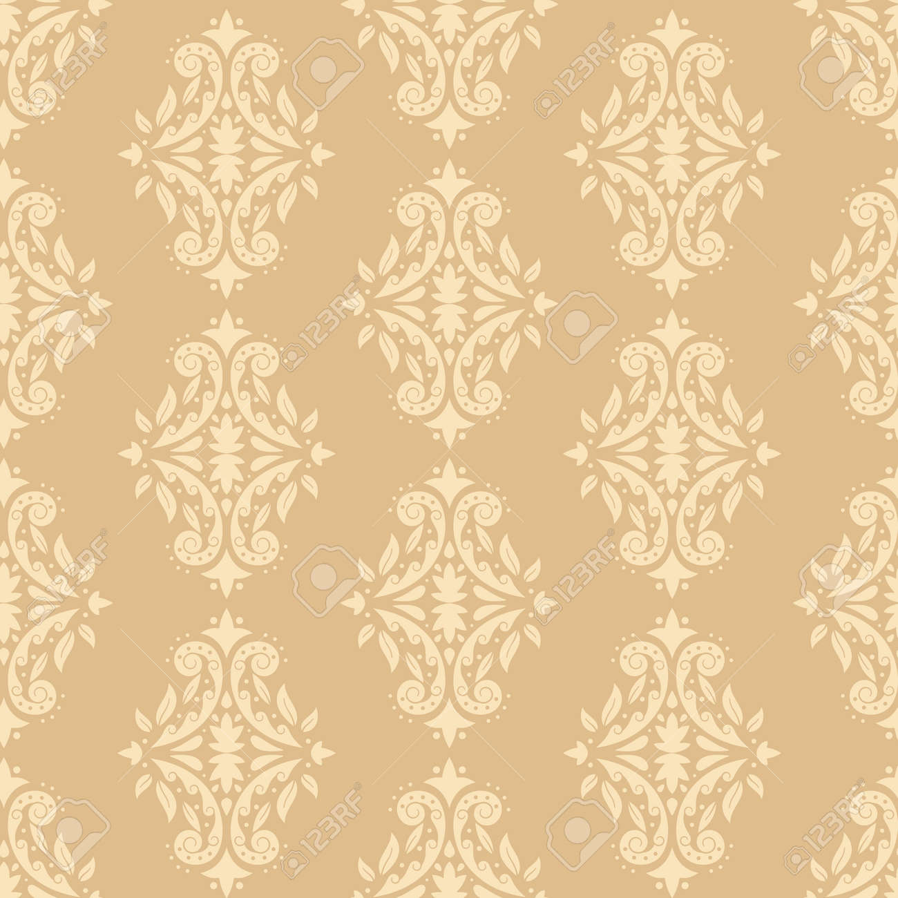 Vintage wallpaper vector seamless pattern. Background for wallpaper, wrapping, packing and backdrop. - 170855144