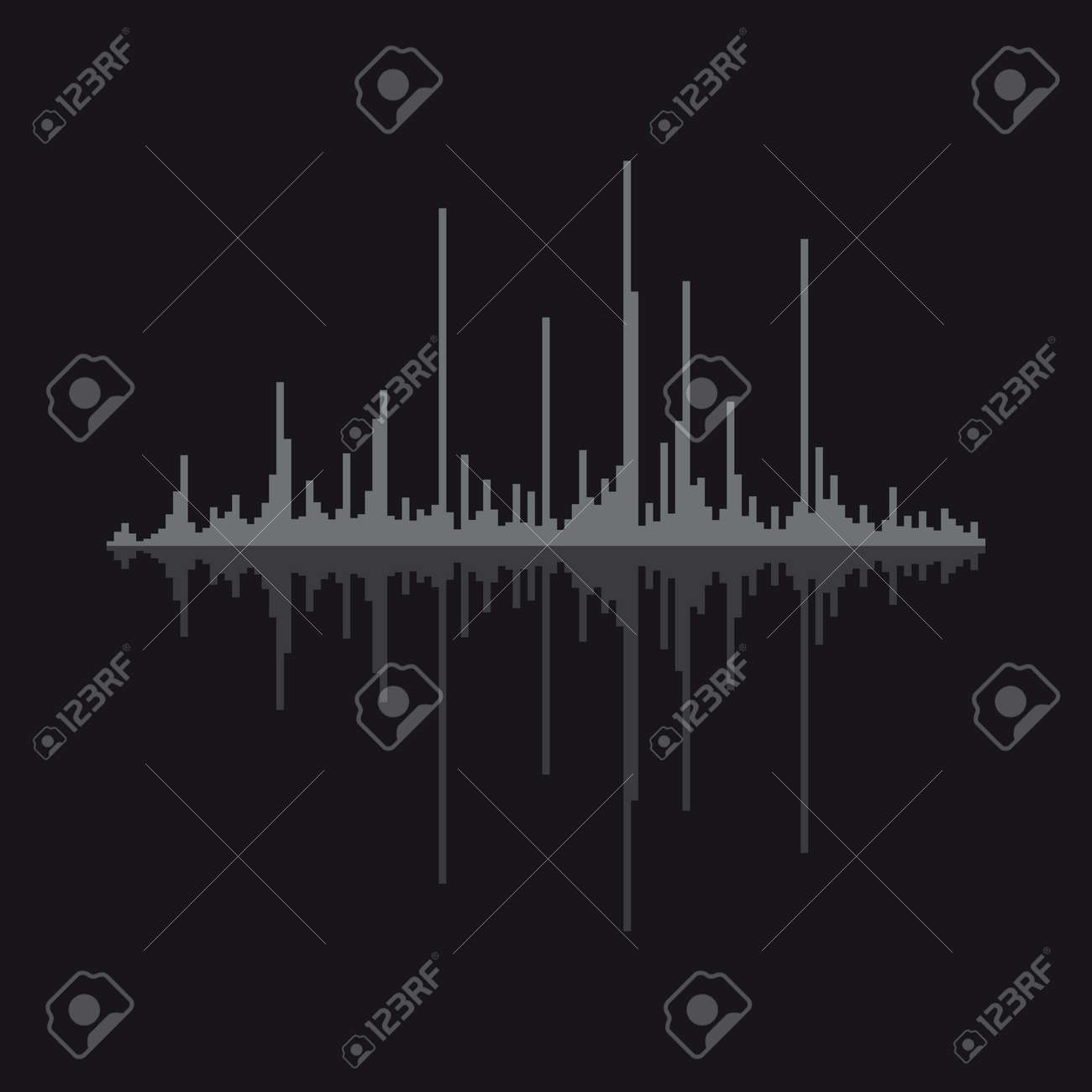 Sound wave vector illustration isolated on background. - 172746601