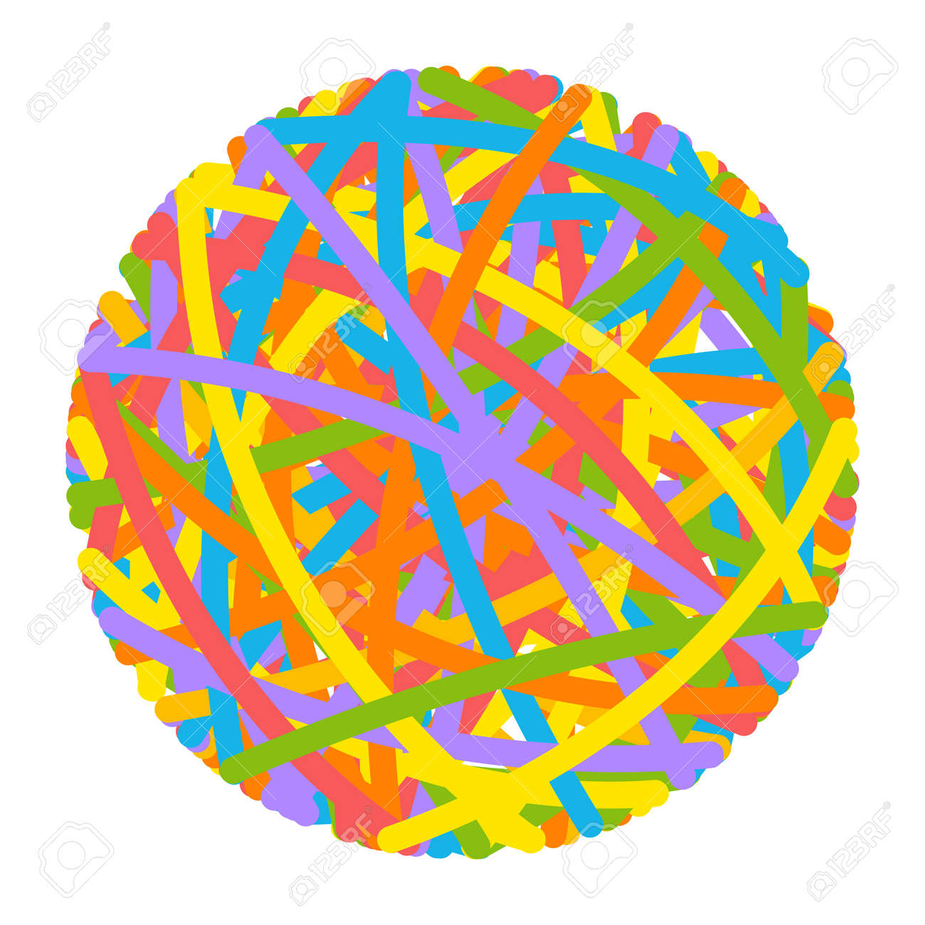 Rubber band ball vector cartoon illustration isolated on a white background. - 172749456