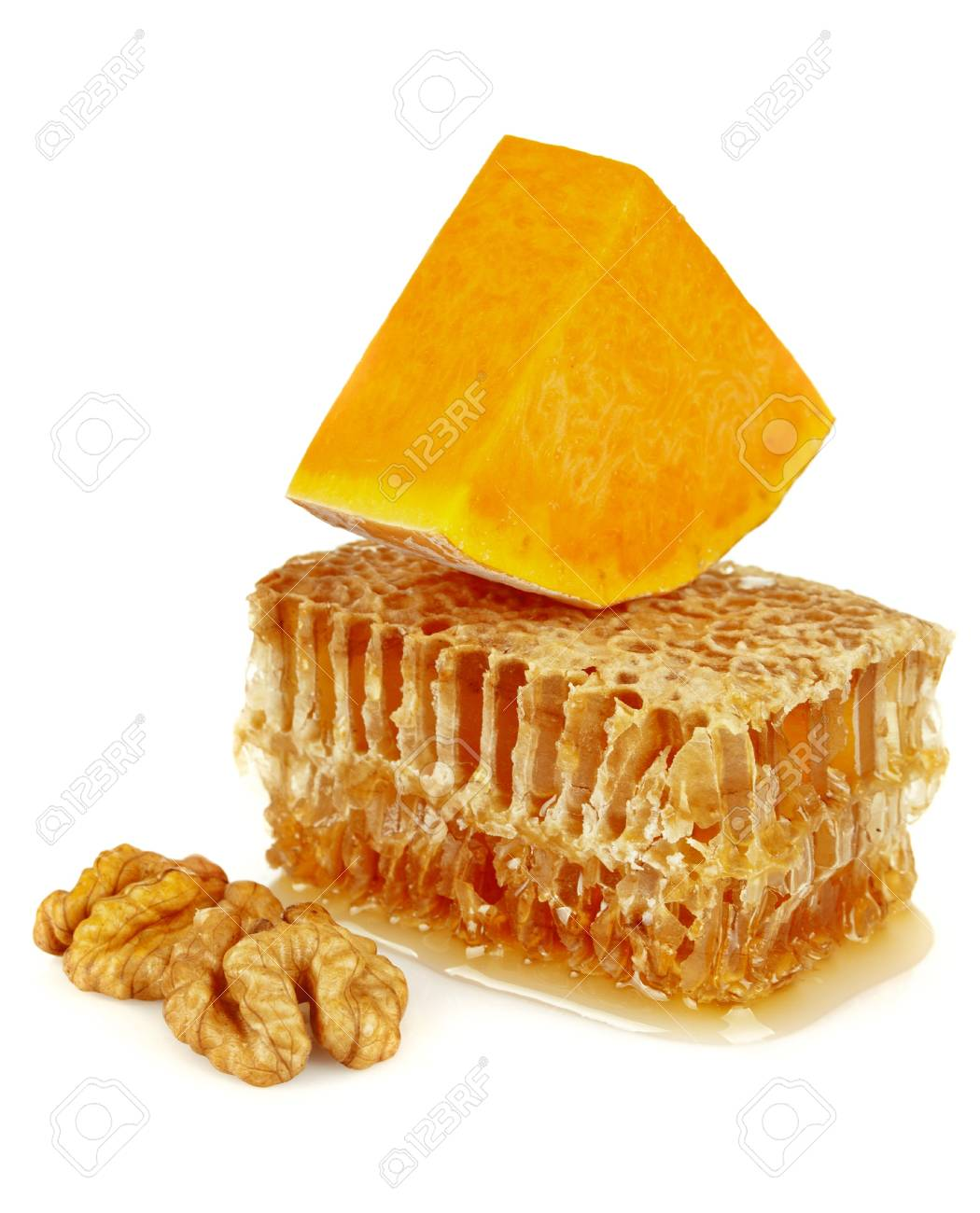 honeycomb and pumpkin Stock Photo - 11697369