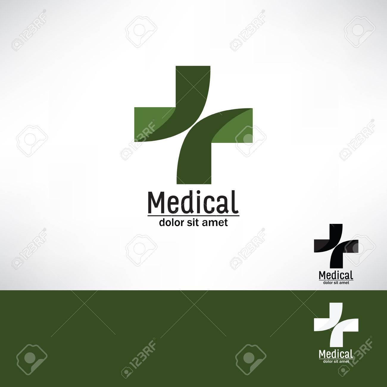 medical pharmacy cross logo design template medic cross icon