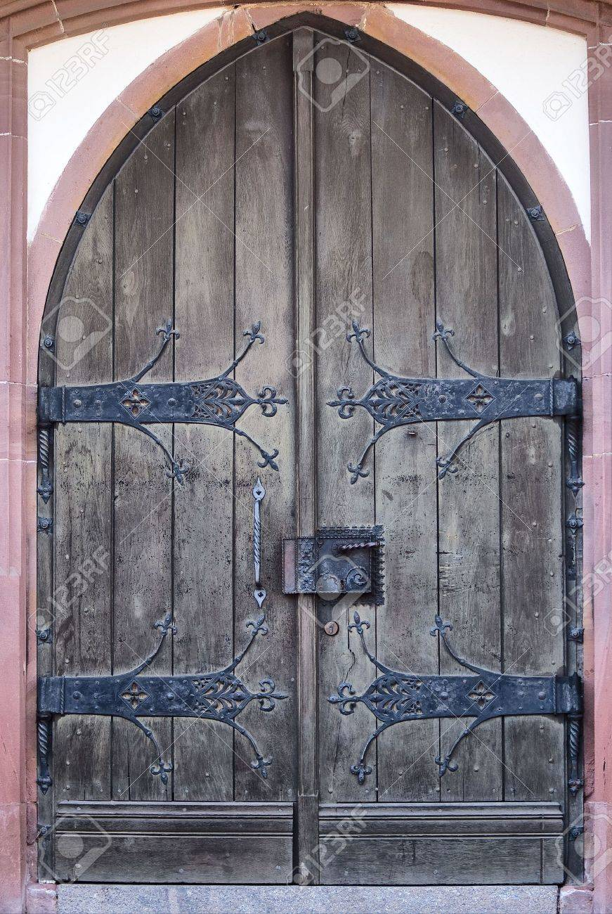 Old Weathered Timber Gate Stock Photo - 2661715 & Castlegate Doors \u0026 Home Depot Glass Door | Entry Doors At Home ... Pezcame.Com