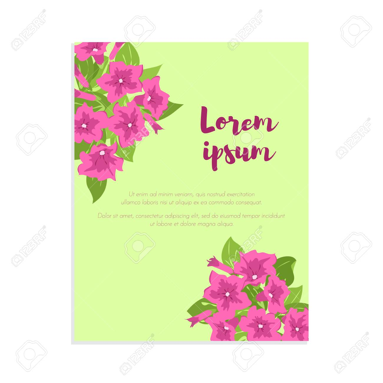 Pink Vintage Flowers In Frame With Sign For Wedding Invitation