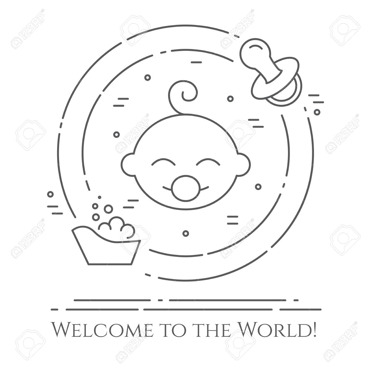 baby theme circular banner design royalty free cliparts vectors