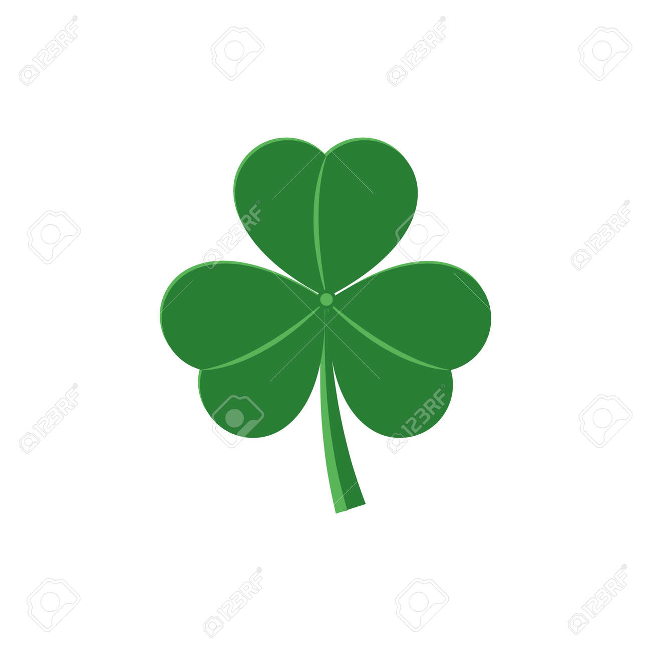 Three Leaf Shamrock Traditional Symbol For St Patrick Day