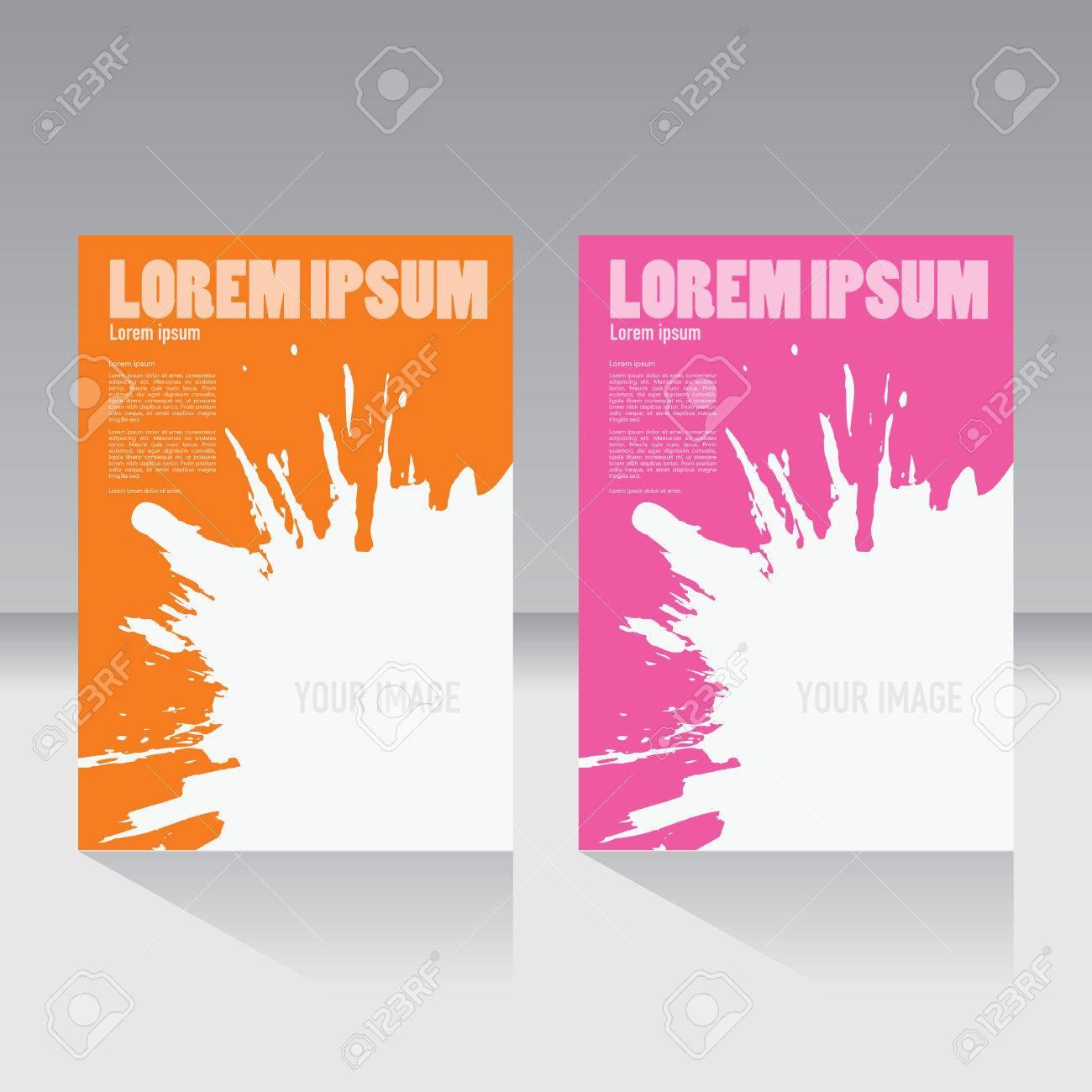 Connu Couverture De Magazine, Brochure, Flyer, Affiche Modèle De Mise En  JD61