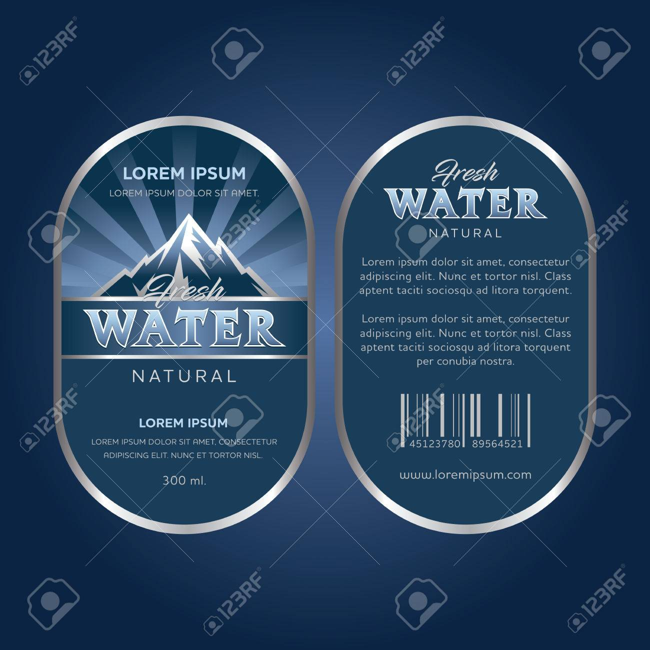 drinking water label stock vector 83922261