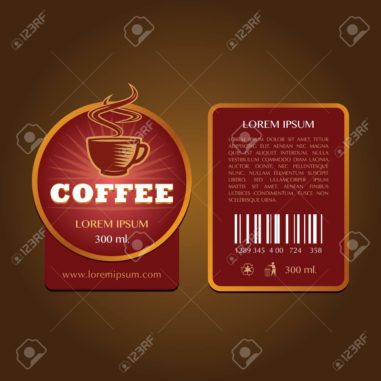 coffee label vector template royalty free cliparts vectors and
