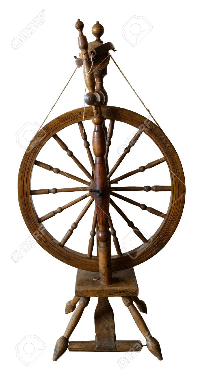 Old Spinning Wheel Against White Background Stock Photo Picture And Royalty Free Image Image 22103750