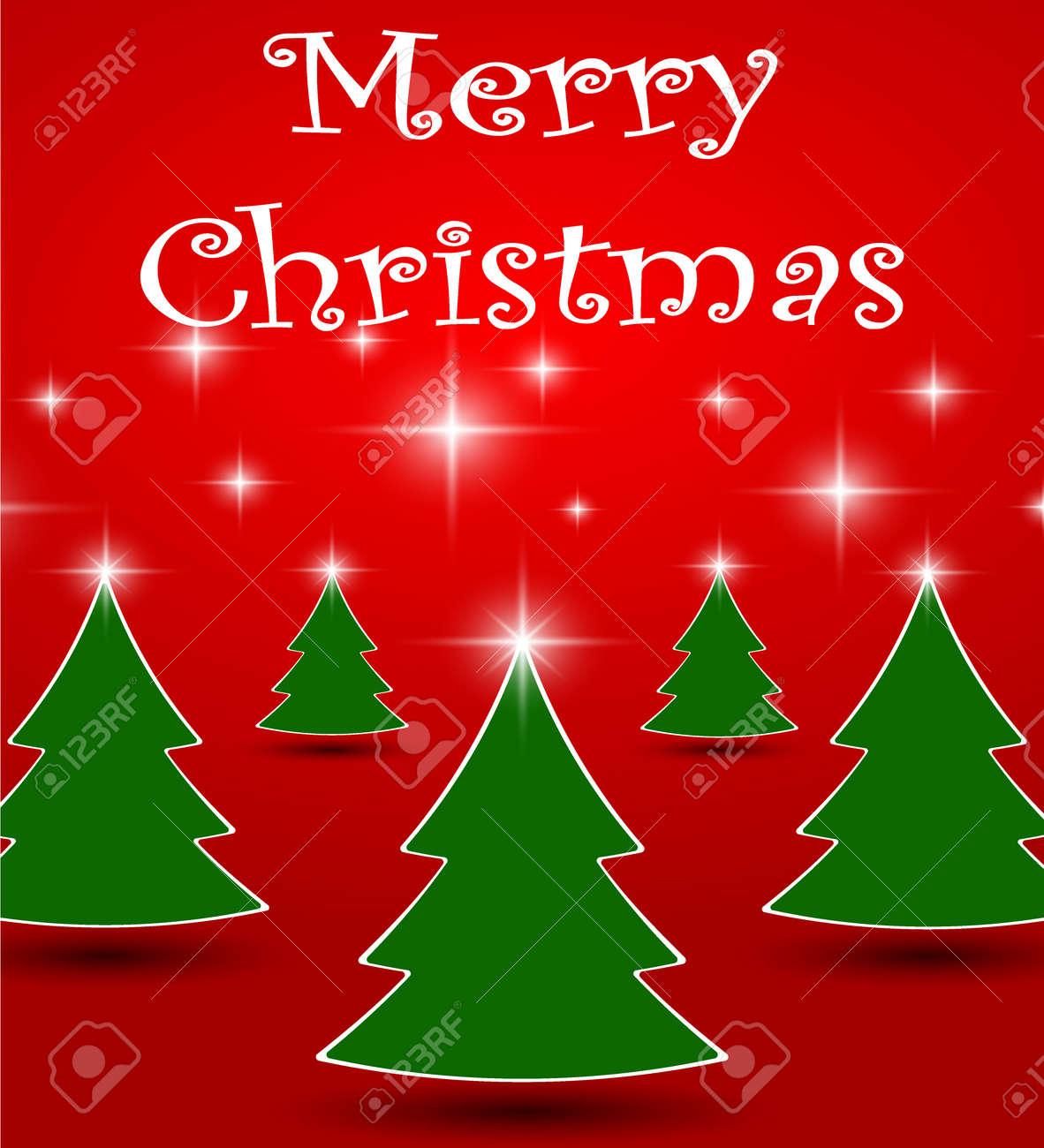 Inicio Feliz Navidad.Palabra Feliz Navidad Blanca Y Arbol De Navidad Con Linea De Inicio Espumoso En Sala De Estudio Rojo Tarjeta De Felicitacion De Vacaciones