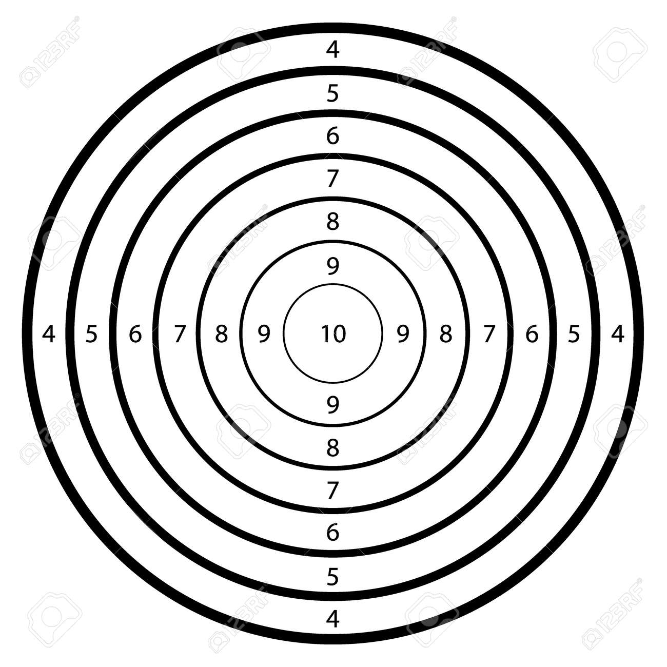 blank template for sport target shooting competition clean target