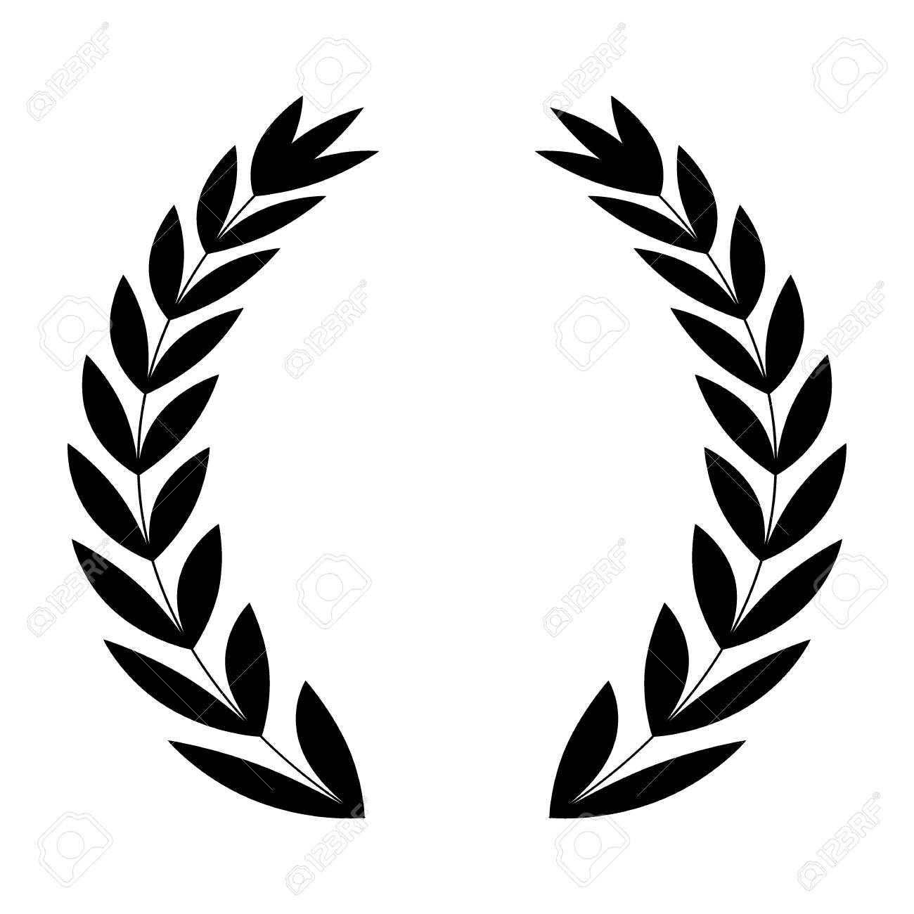 wreath leaves ornament icon icon vector illustration graphic