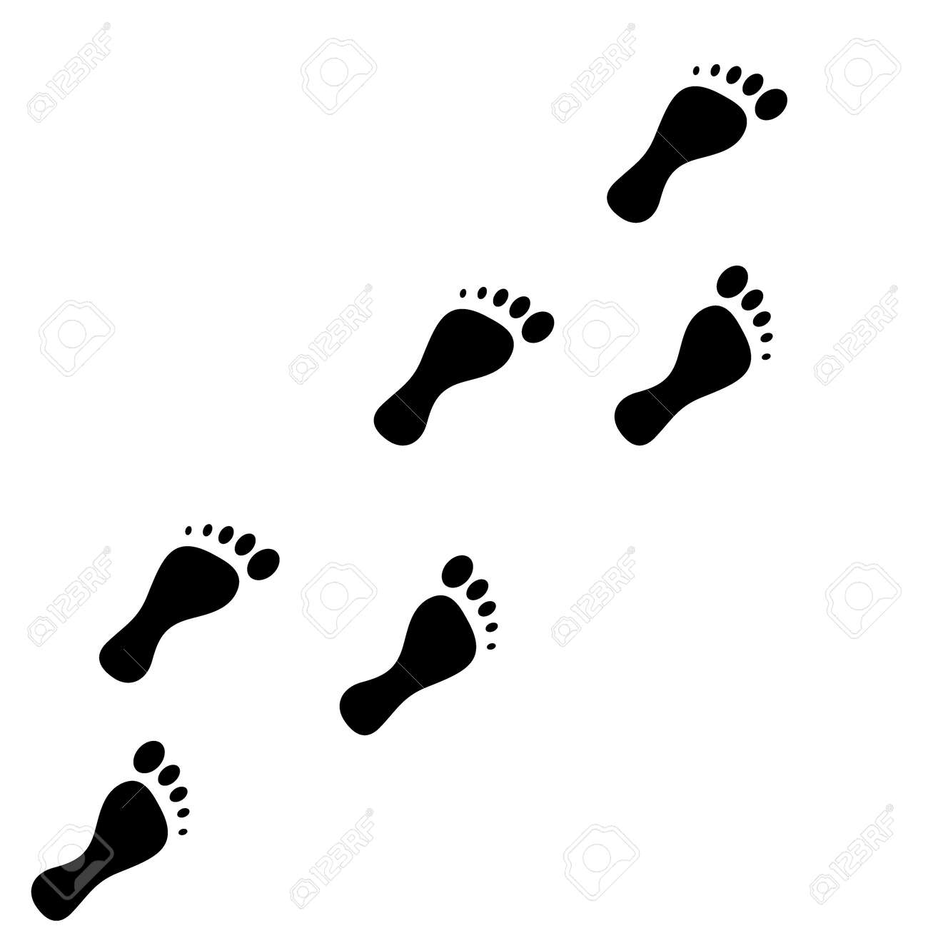 foot print vector icon on white background footprint vector rh 123rf com clipart footprints walking clipart footprints in the sand
