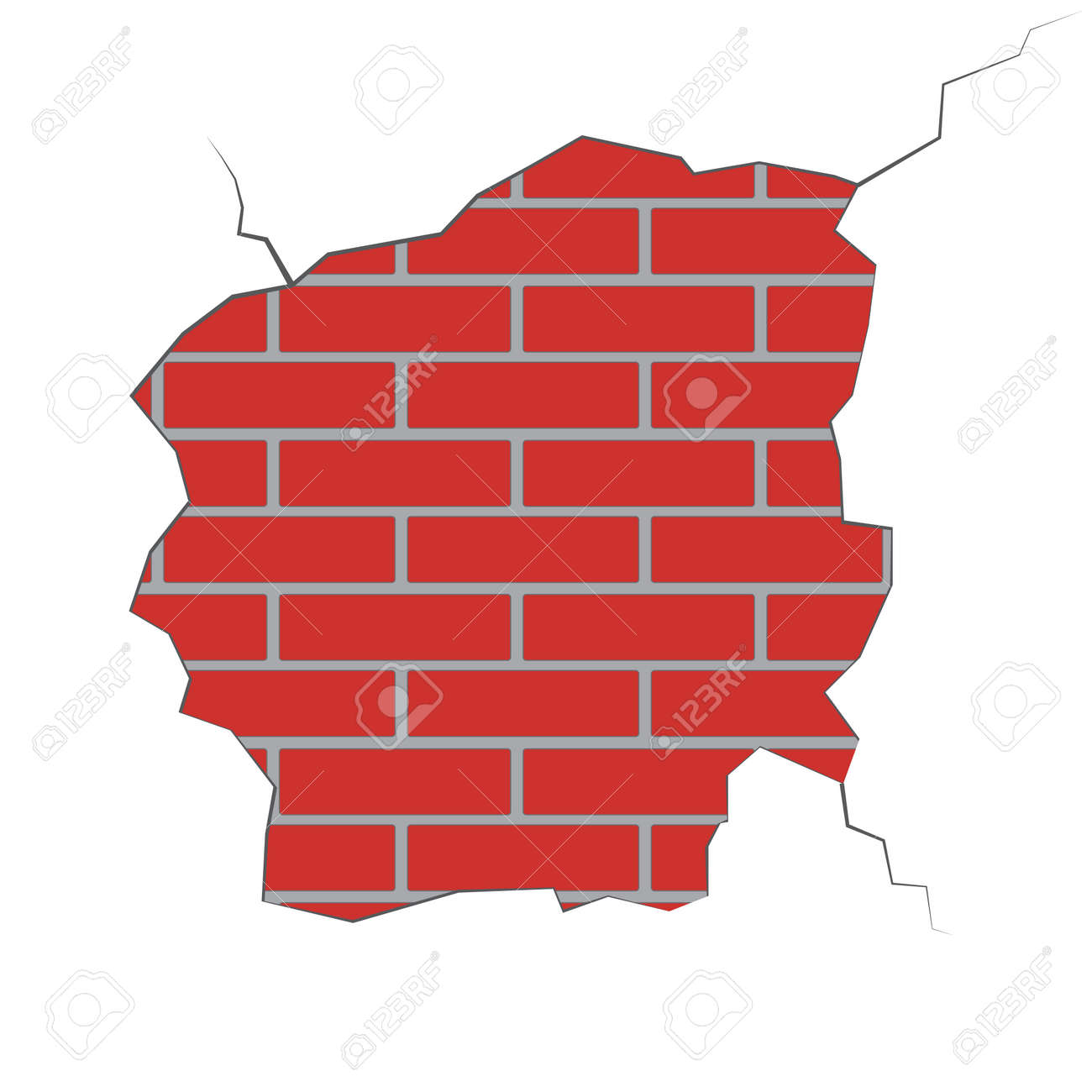 illustration of a brick wall with a broken plaster royalty free rh 123rf com Brick Wall Sketch Brick Wall Sketch