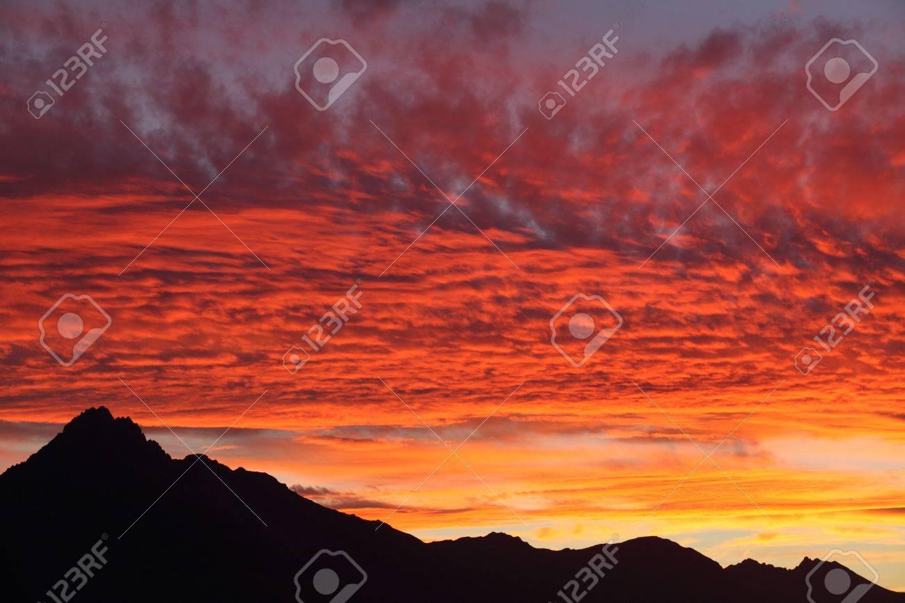 Sunset in New Zealand Stock Photo - 8599241
