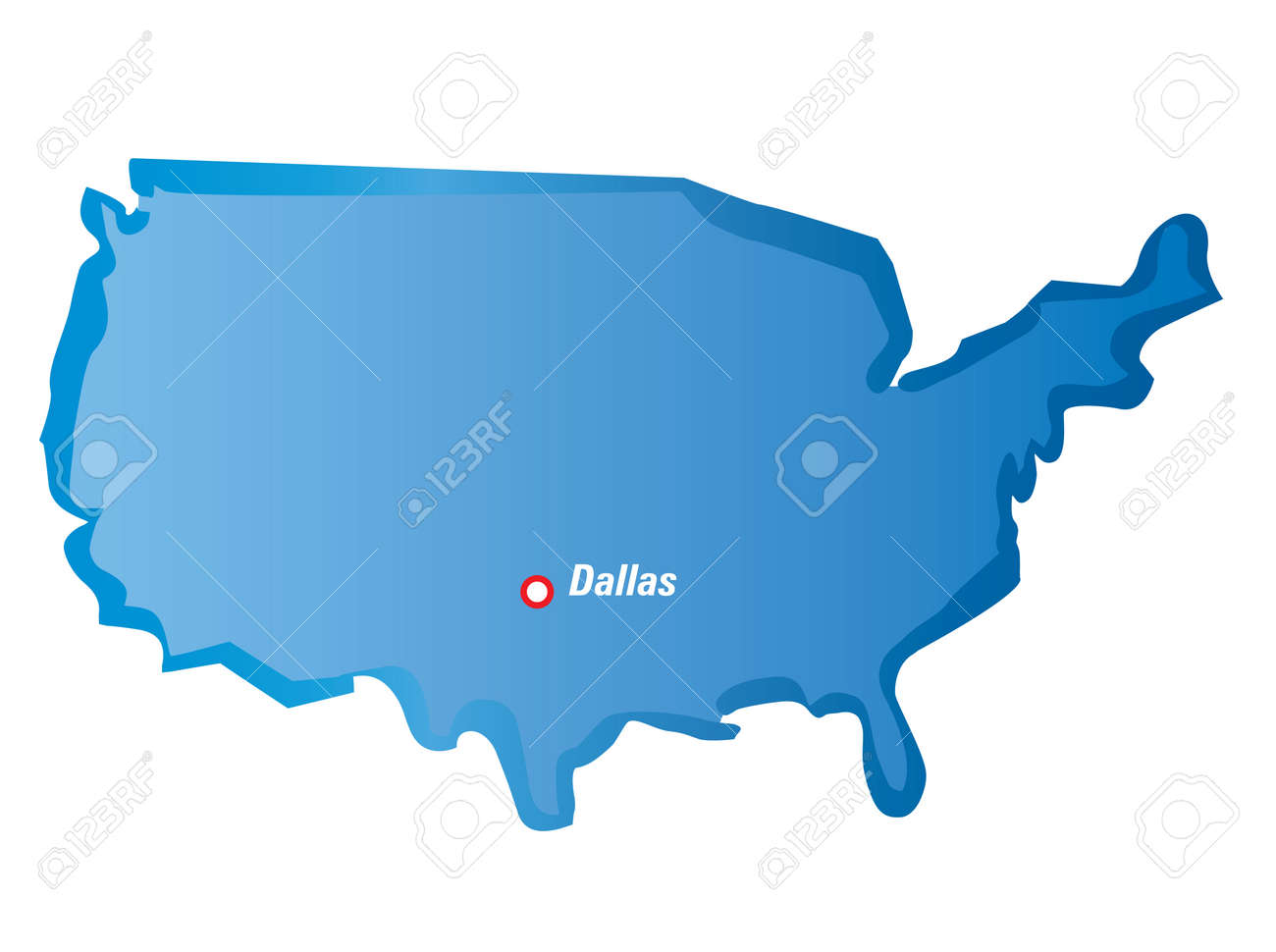 Dallas On Map Of Usa on