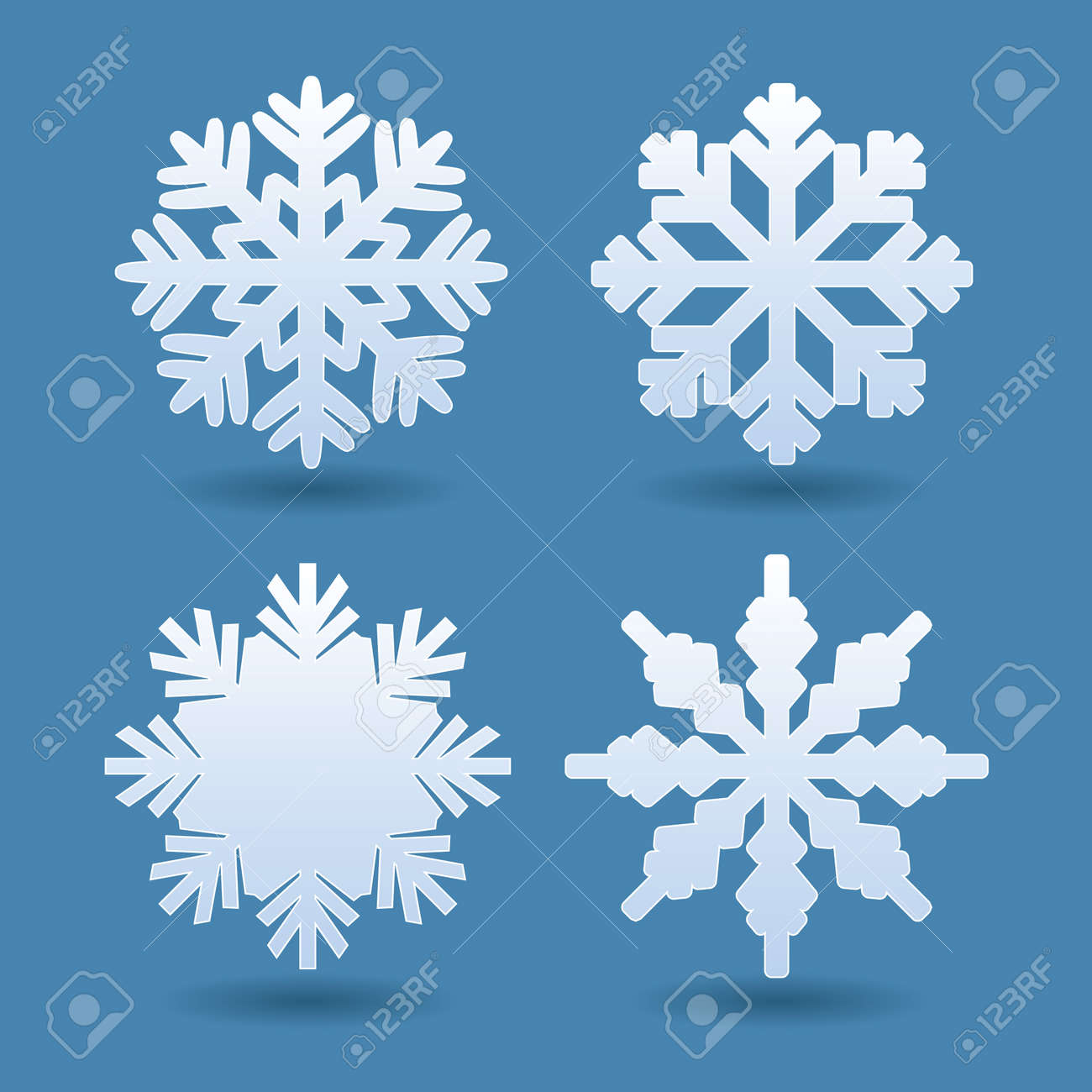 set of white snowflakes vector icons royalty free cliparts rh 123rf com snowflake vector image snowflake vector image