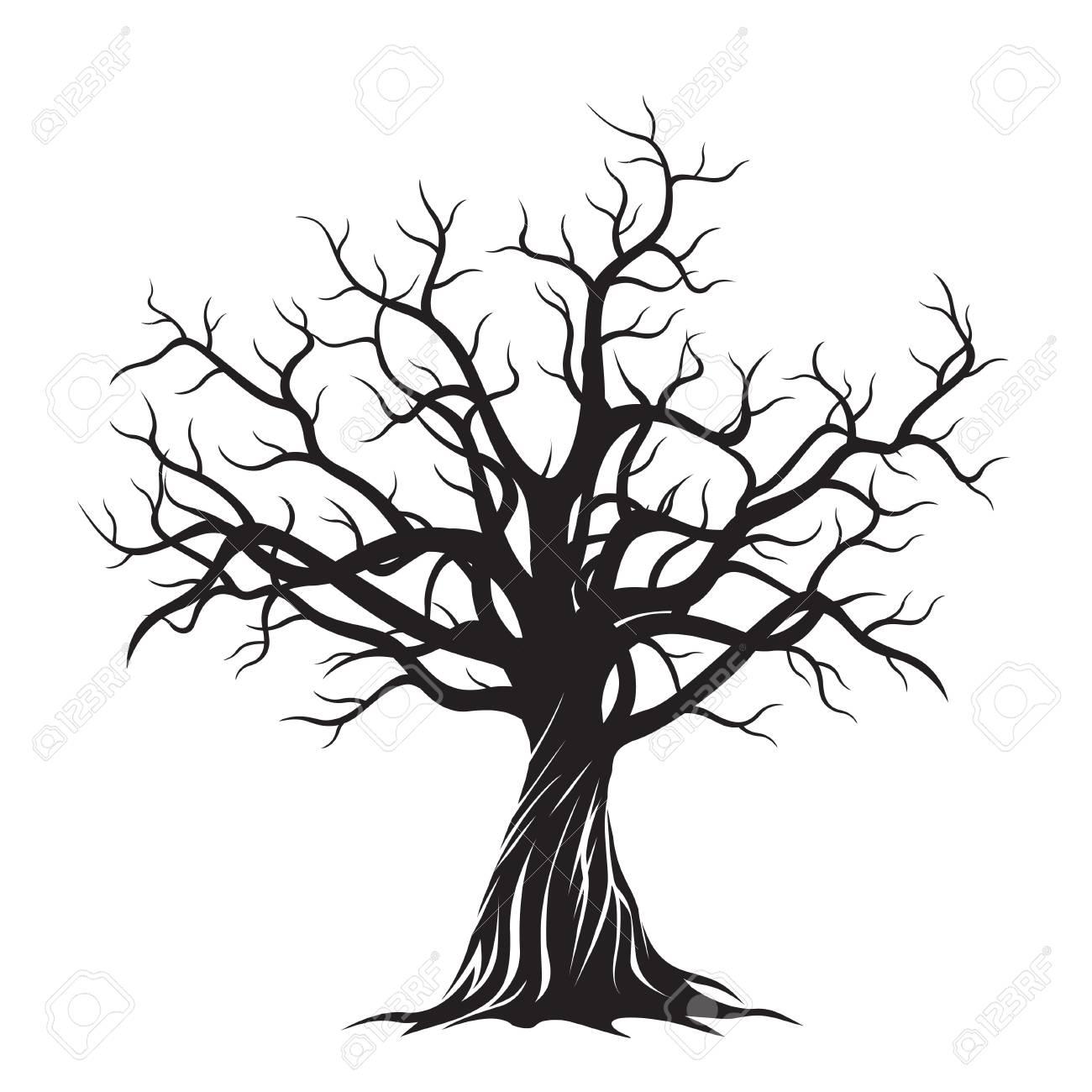 Black Tree. Vector Illustration. - 51894518