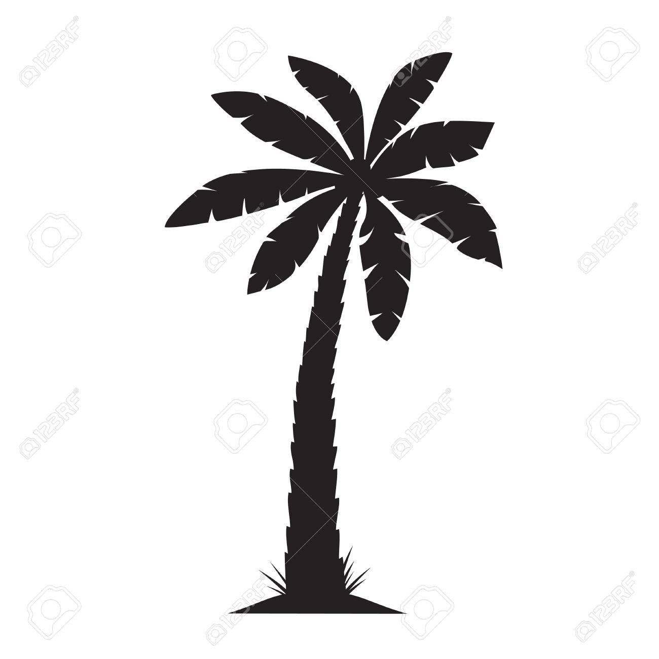 black vector palm tree royalty free cliparts vectors and stock rh 123rf com free vector palm tree artwork free vector palm tree sunset
