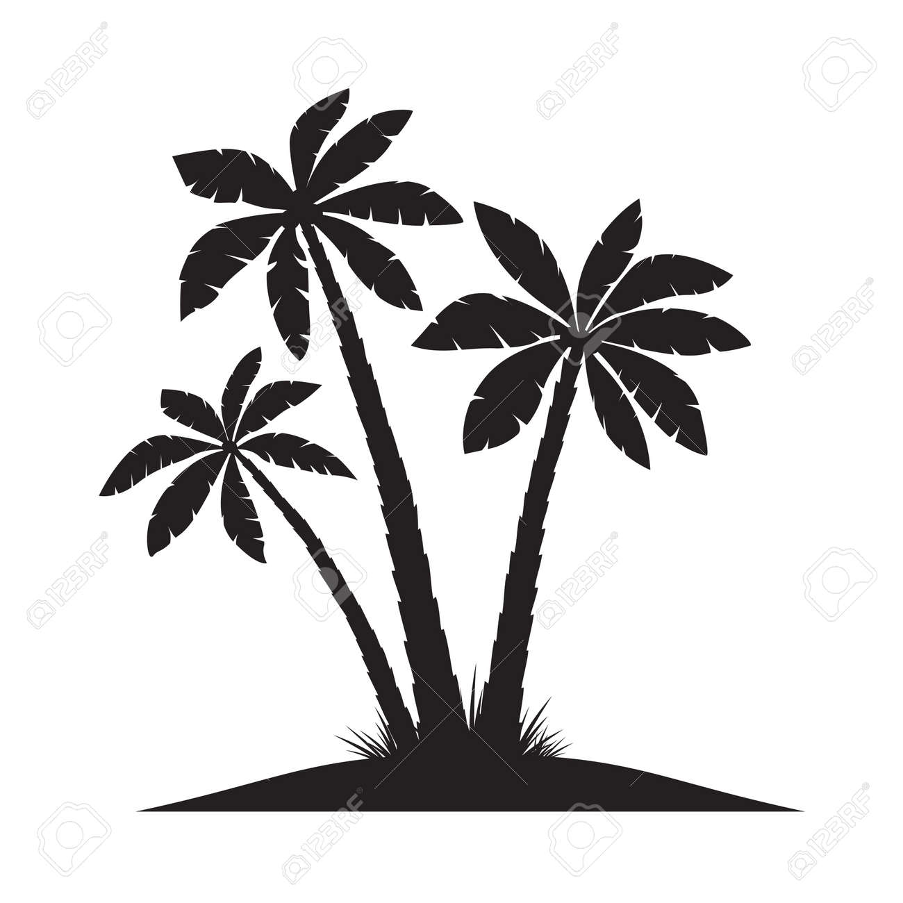 black vector palm trees royalty free cliparts vectors and stock rh 123rf com vector palm trees illustrator free vector palm trees