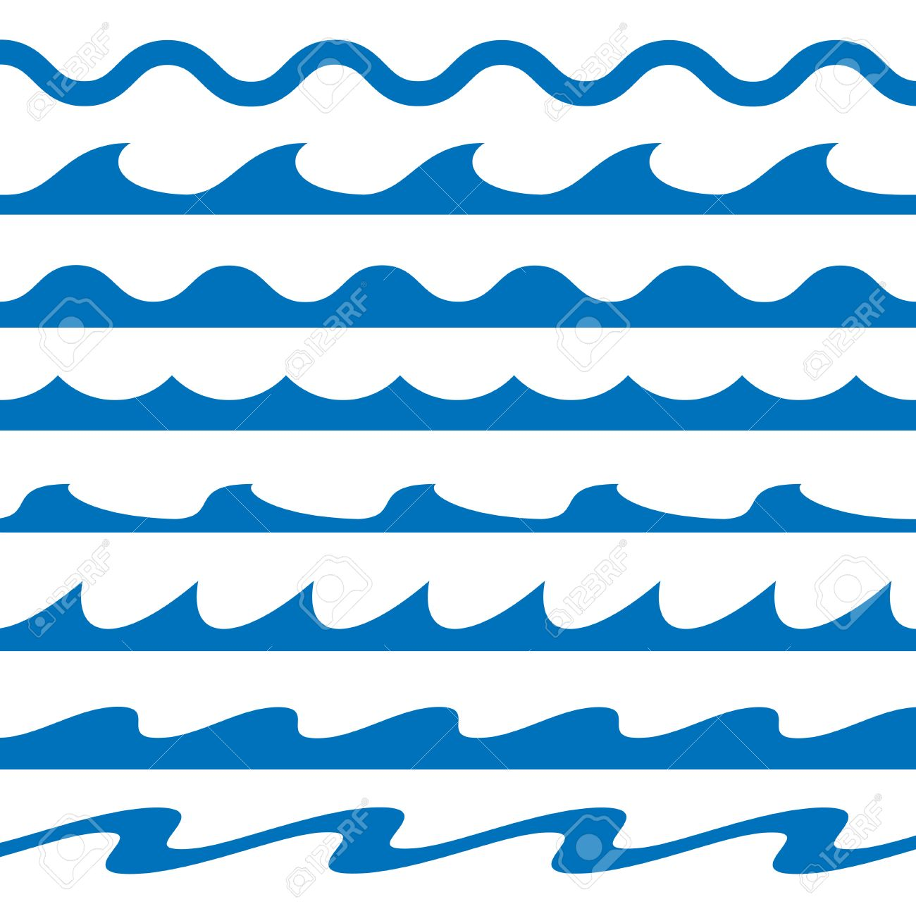 set of blue waves vector illustration royalty free cliparts rh 123rf com wave vector art waves vector free