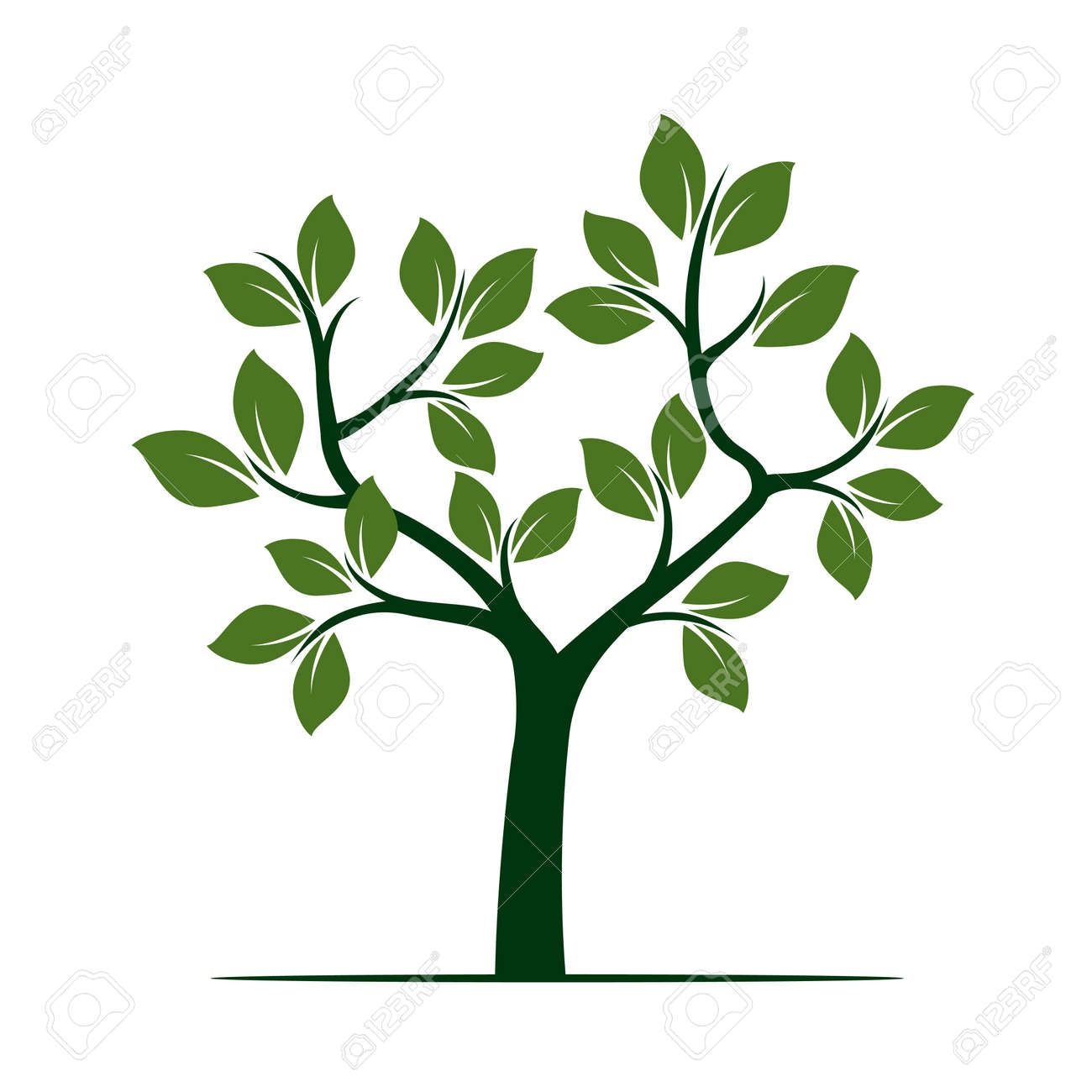 green tree vector illustration royalty free cliparts vectors and rh 123rf com tree vector png tree vector file