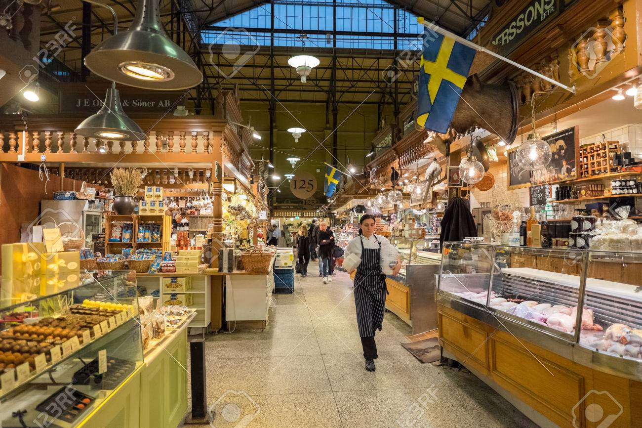 10 Inspirerende Hallen : Stockholm sweden november 10 2014: ostermalm market hall in.. stock