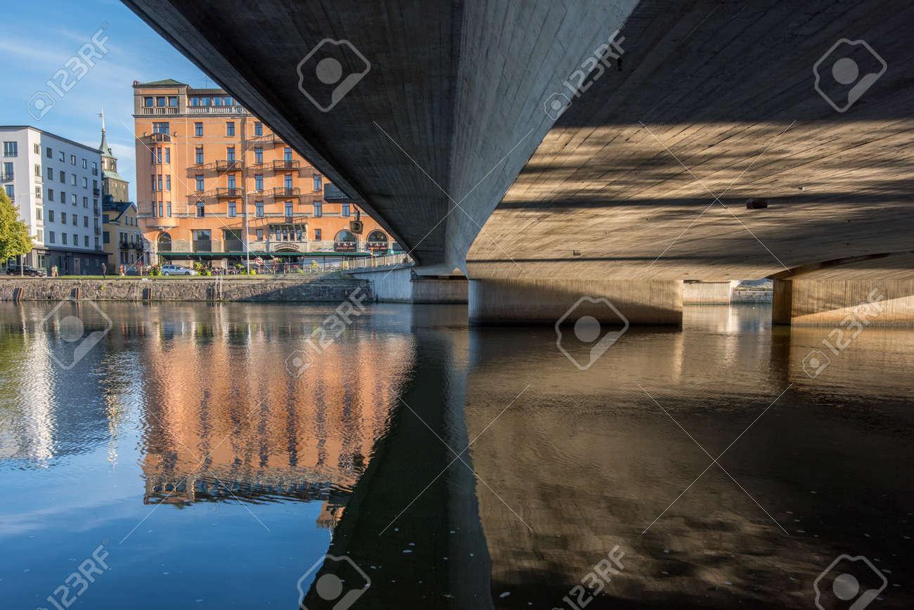 Norrkoping, Sweden - September 2, 2018: Norrköping waterfront