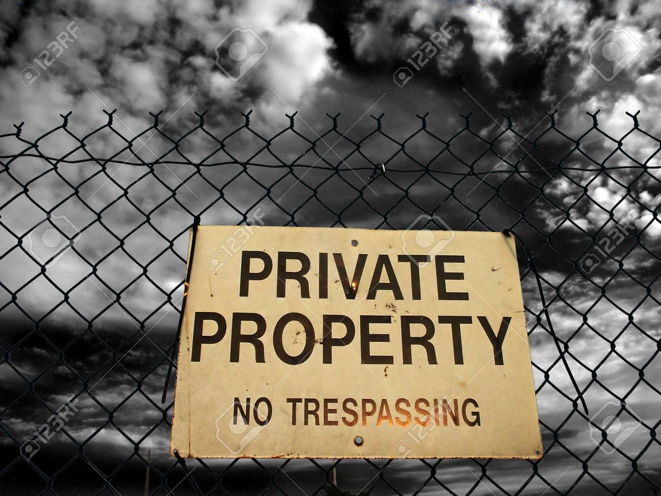 Private property Stock Photo - 842408