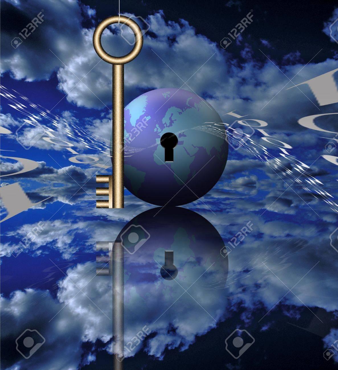 a key binary code and the globe stock photo picture and royalty a key binary code and the globe stock photo 2109850
