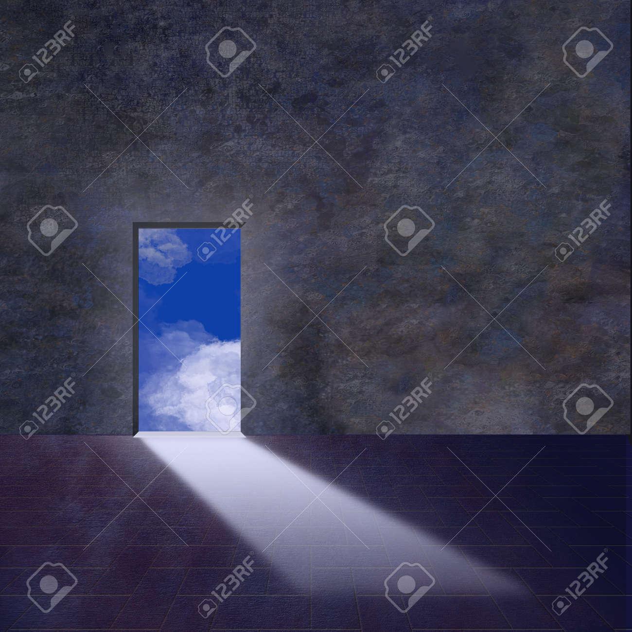 Doorway opens to sky Stock Photo - 4274111