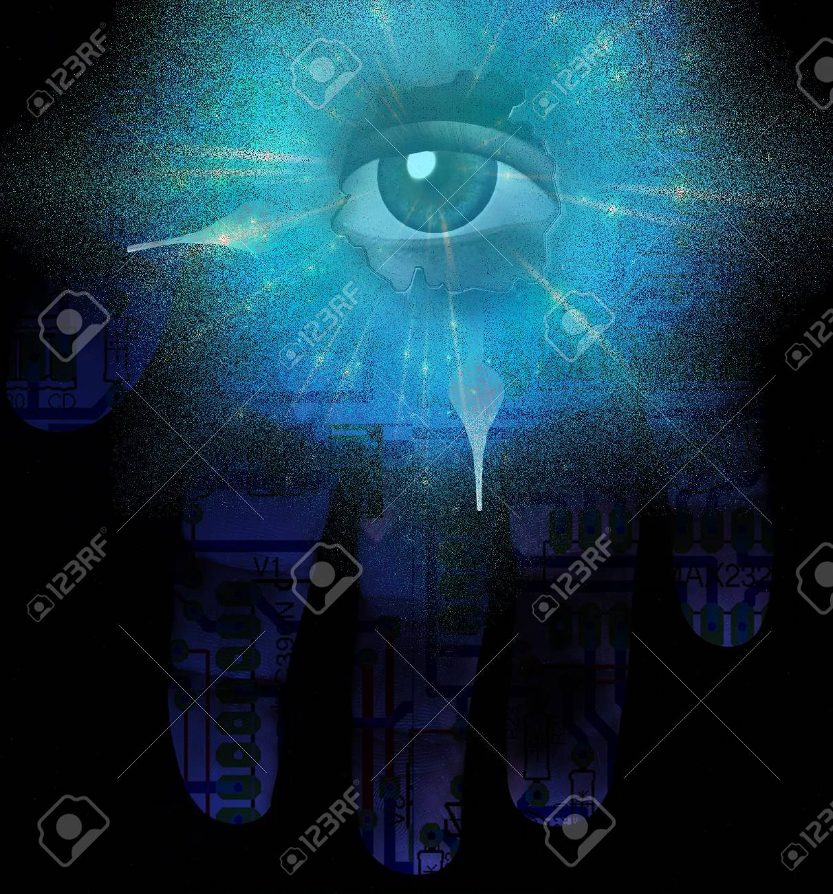 Sci fi abstract Stock Photo - 6525244