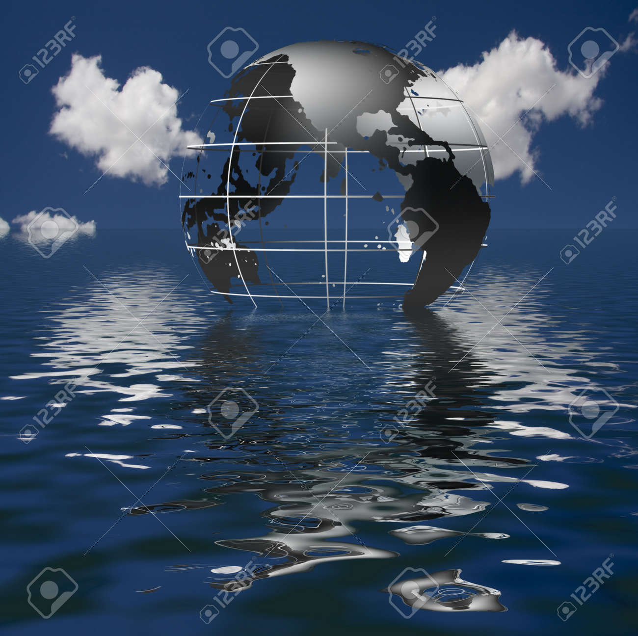 Earth Sinking Stock Photo - 6851014